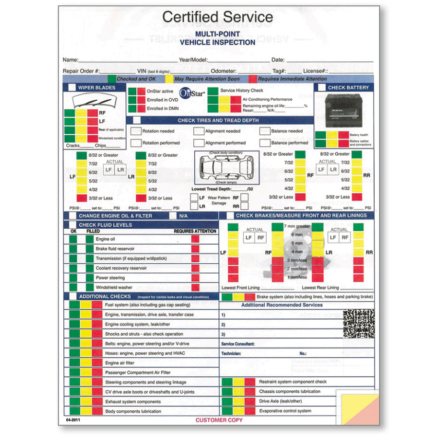 GM Inspection Form