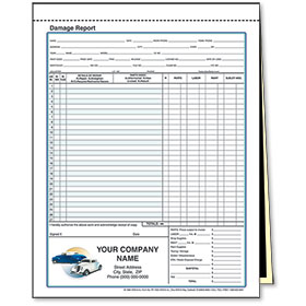 2-Part Carbon Auto Body Estimate Repair Forms - Classic Cars