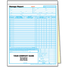 2-Part Auto Body Estimate Forms - Damage Report - Pre-Numbered
