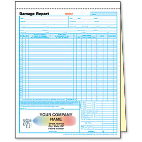 2-Part Auto Repair Estimate Forms - Rainbow Spray