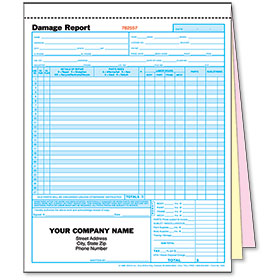 3-Part Auto Body Estimate Forms - Damage Report - Pre-Numbered