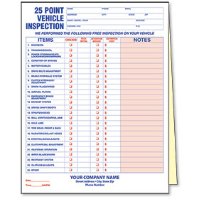 25 Point Inspection Form
