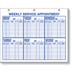 Weekly Service Appointment Pad