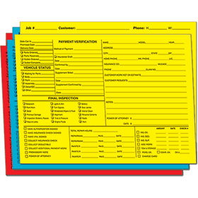 Bright Color-Coded Repair Order Folders - Version 1