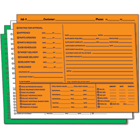 Bright Color-Coded Repair Order Folders - Version 2