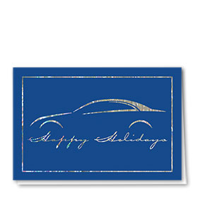 Personalized Premium Foil Holiday Cards - Christmas Chrome