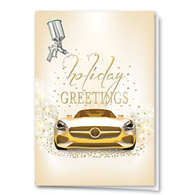 Personalized Premium Foil Holiday Cards - Glittering Greetings