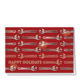 Personalized Premium Foil Holiday Cards - Glimmering Wrenches