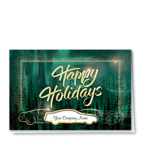 Premium Foil Holiday Cards - Evergreen Radiance