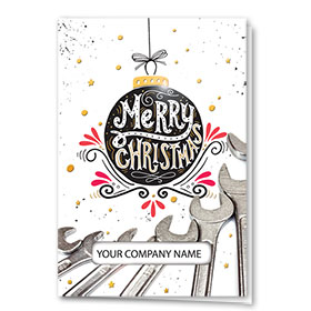Premium Foil Holiday Cards - Christmas Bulb