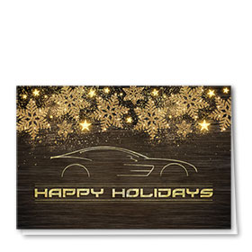 Premium Foil Holiday Card - Golden Glisten