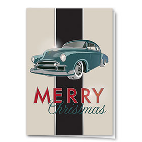 Premium Foil Holiday Card - Vintage Stripe