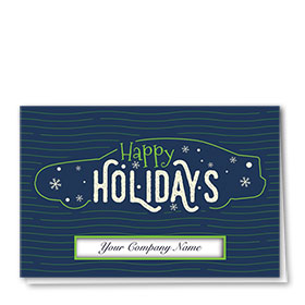 Personalized Premium Foil Auto Holiday Cards - Whimsical Holiday