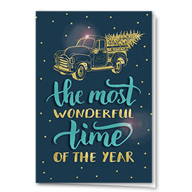 Personalized Premium Foil Auto Holiday Cards - Wonderful Time