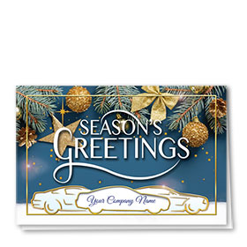 Personalized Premium Foil Holiday Card - Christmas Time