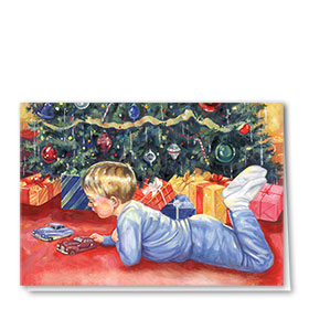 Personalized Deluxe Full-Color Automorive Holiday Cards - Christmas Wishes