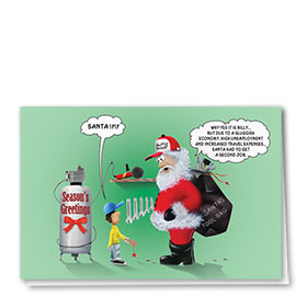 Personalized Deluxe Full-Color Automotive Holiday Cards - Sluggish Economy