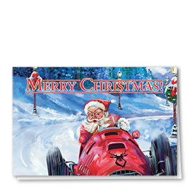 Personalized Deluxe Full-Color Automotive Holiday Cards - Christmas Competition