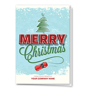 Double Personalized Full-Color Auto Holiday Cards - Speedy Salutation