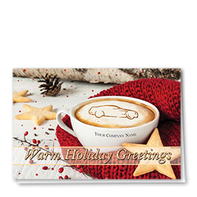 Double Personalized Full-Color Auto Holiday Cards - Holiday Warmth