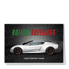 Double Personalized Full Color Holiday Card- Fastlane Greetings