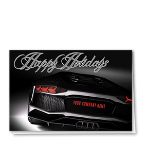 Double Personalized Full Color Holiday Card-Holiday Glimmer