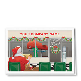 Double Personalized Full Color Holiday Card-Checking Twice