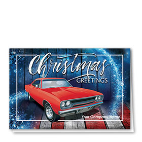 Double Personalized Full Color Holiday Card- American Classic