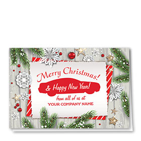 Double Personalized Full Color Holiday Card- Christmas Note