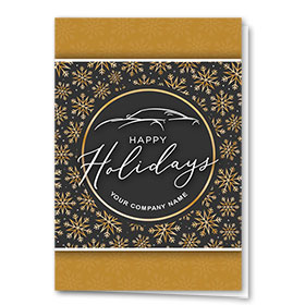 Double Personalized Full Color Holiday Card- Decorative Snowflakes