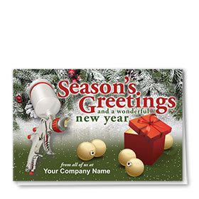 Double Personalized Full Color Holiday Card- Wonderful Gift