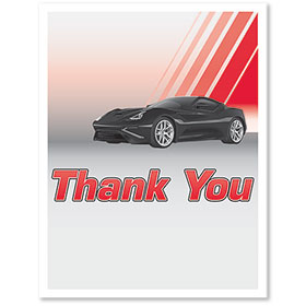Large Vertical Paper Floor Mats - Thank You