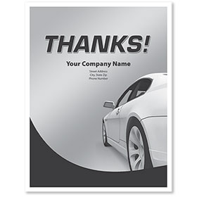 Personalized Large Vertical Paper Floor Mats - Thanks!