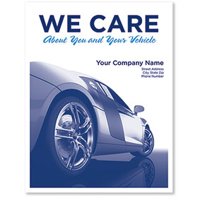 Personalized Large Vertical Paper Floor Mats - We Care