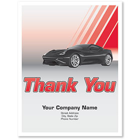 Personalized Large Vertical Paper Floor Mats - Thank You