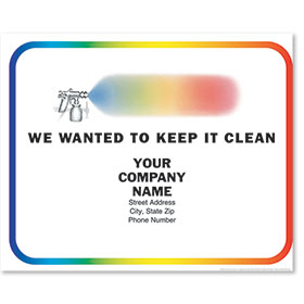 Personalized Full-Color Paper Floor Mats - Rainbow Spray