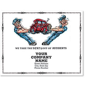 Personalized Full-Color Paper Floor Mats - Dents Out