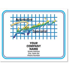 Personalized Full-Color Paper Floor Mats - Automotive Repair Specialist