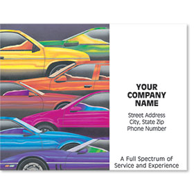 Personalized Full-Color Paper Floor Mats - Colorful Cars