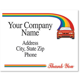 Personalized Full-Color Paper Floor Mats - Rainbow Road