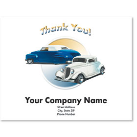 Personalized Full-Color Paper Floor Mats - Classic Cars 1
