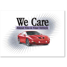 Standard Paper Floor Mats - We Care About You & Your Vehicle