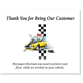 Standard Paper Floor Mats - Thank You for Being Our Customer