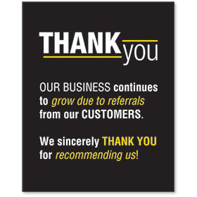 Sign Contemporary - Customer Referred Sign