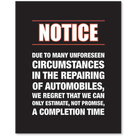 Sign Contemporary - Notice