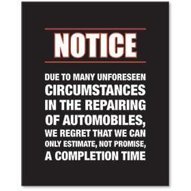 Sign Contemporary - Notice