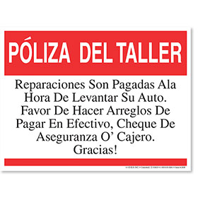Shop Policy Spanish