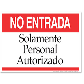 Clearance  - No Admittance Spanish