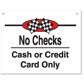 Sign ABS Plastic Checkered Flag - No Checks