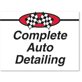Sign ABS Plastic Two-Sided Curb -Complete Auto Detailing